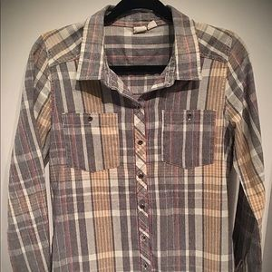 Junior's Roxy Long Sleeve Button Up Top
